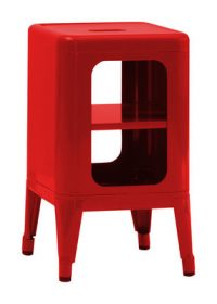 Mobile Low stool H cm Red Tolix Frédéric GAUNET 50 1