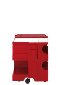 A storage unit Boby cm 52 - 3 drawers Red B-LINE Joe Colombo