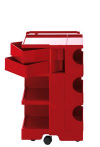 A storage unit Boby cm 73 - 2 drawers Red B-LINE Joe Colombo