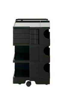 A storage unit Boby cm 73 - 3 drawers Black B-LINE Joe Colombo
