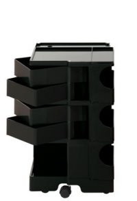 A storage unit Boby cm 73 - 4 drawers Black B-LINE Joe Colombo