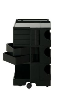 A storage unit Boby cm 73 - 5 drawers Black B-LINE Joe Colombo