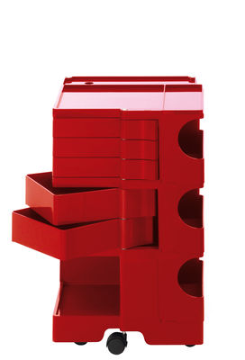 A storage unit Boby cm 73 - 5 drawers Red B-LINE Joe Colombo