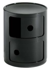 Modular storage unit / 2 drawers Black Kartell Anna Castelli Ferrieri 1