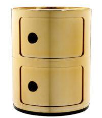 Unité de rangement Componibili / tiroirs 2 Oro Kartell Anna Castelli Ferrieri 1