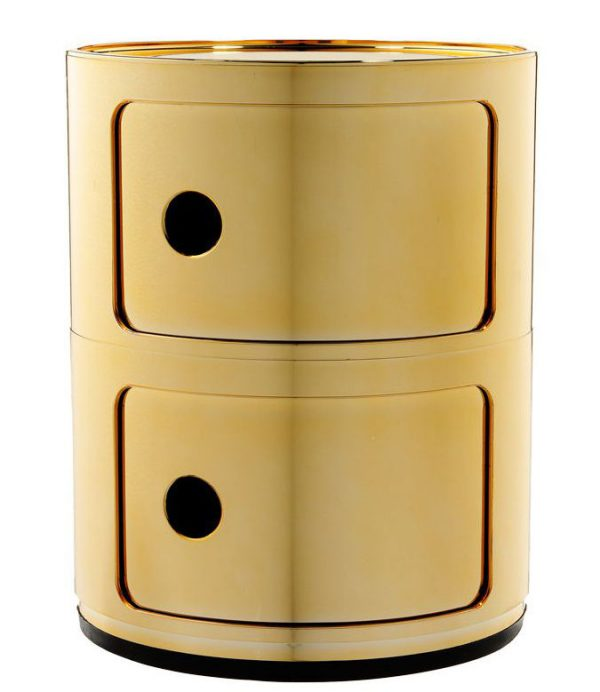 Mobile contenitore Componibili / 2 cassetti Oro Kartell Anna Castelli Ferrieri 1