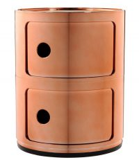 Componibili storage unit / 2 drawers Copper Kartell Anna Castelli Ferrieri 1
