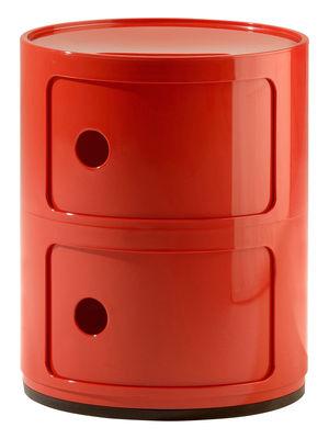 Unité de rangement Componibili / tiroirs 2 Rosso Kartell Anna Castelli Ferrieri 1