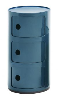 Mobile contenitore Componibili / 3 cassetti Blu Petrolio Kartell Anna Castelli Ferrieri 1
