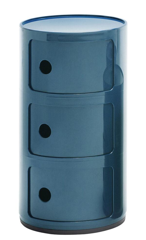 Cabina de almacenamiento Componibili / cajones 3 Blue Petroleum Kartell Anna Castelli Ferrieri 1