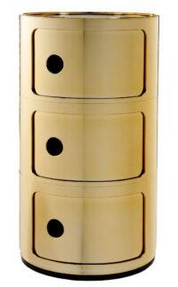 Unité de rangement Componibili / tiroirs 3 Oro Kartell Anna Castelli Ferrieri 1