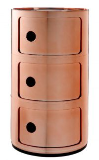 Componibili storage unit / 3 drawers Copper Kartell Anna Castelli Ferrieri 1