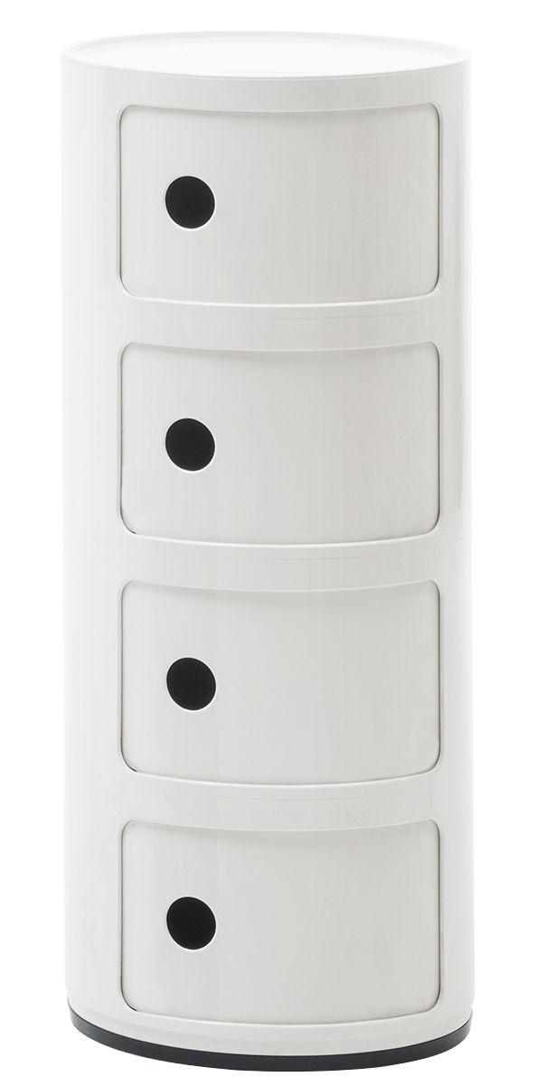 Componibili storage unit / 4 drawers Bianco Kartell Anna Castelli Ferrieri 1