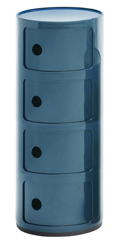 Componibili Lagerschrank / 4 Schubladen Blau Petroleum Kartell Anna Castelli Ferrieri 1
