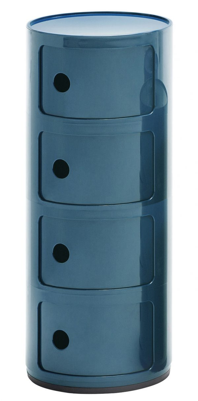 Cabina de almacenamiento Componibili / cajones 4 Blue Petroleum Kartell Anna Castelli Ferrieri 1