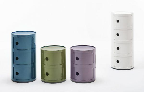 Aparelho de armazenamento de componentes / gavetas 4 Verde Kaki Kartell Anna Castelli Ferrieri 2