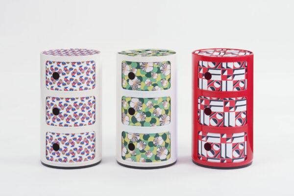 Mobile contenitore Componibili La Double J - / 3 cassetti - H 58 cm Bianco|Ninfea Kartell Anna Castelli Ferrieri 2