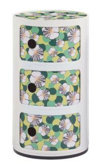 Componibili storage unit La Double J - / 3 drawers - H 58 cm White | Ninfea Kartell Anna Castelli Ferrieri 1