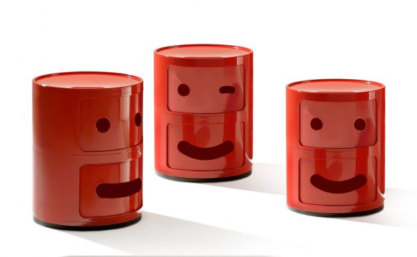 Smile Componibili unidad de almacenamiento N ° 2 / 2 cajones Red Kartell Anna Castelli Ferrieri | Fabio Novembre 2