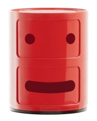 Smile Componibili storage unit N ° 2 / 2 drawers Red Kartell Anna Castelli Ferrieri | Fabio Novembre 1