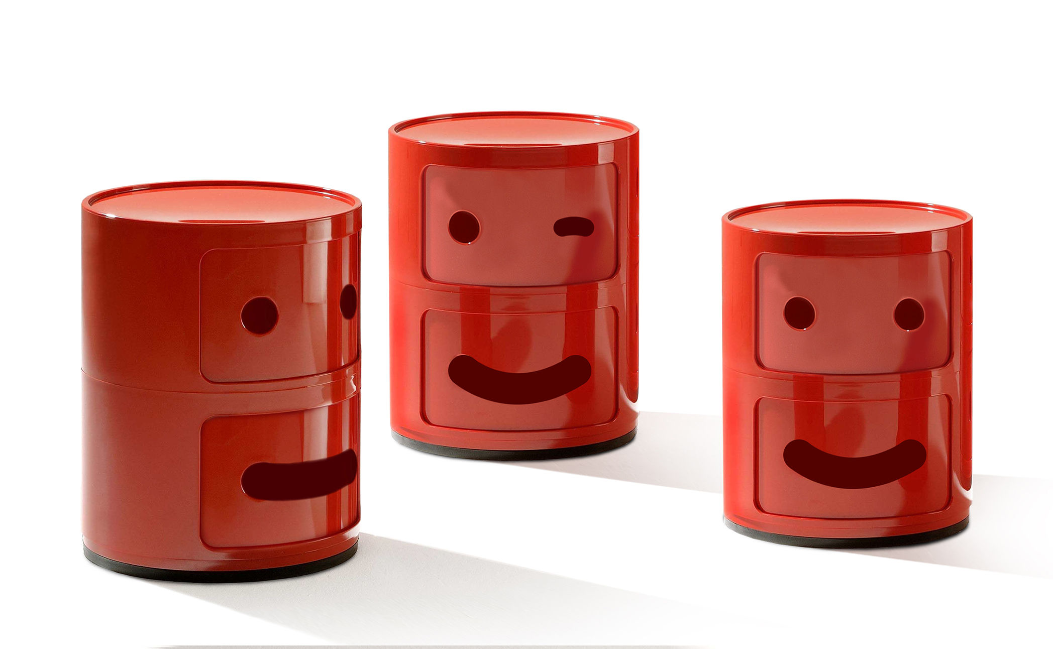 Smile Componibili depo inite N ° 3 / 2 tiwa Wouj Kartell Anna Castelli Ferrieri | Fabio Novembre 2