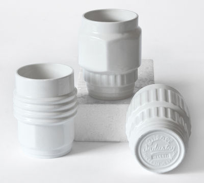 Mug Machine Collection / Set 3 White Diesel living with Seletti Diesel Creative Team 1