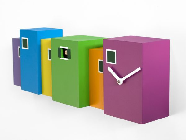 Multicolored Burano Wall Clock Progetti Eloisa Libera 3