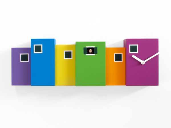 Multicolored Burano Wall Clock Progetti Eloisa Libera 1