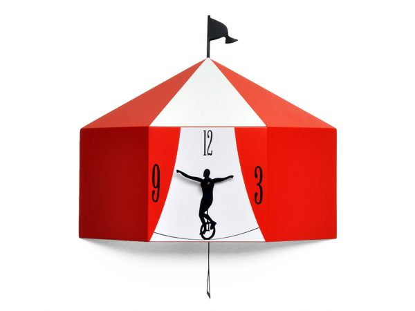 Circus Red Reloj de pared Progetti Barbero Design 2