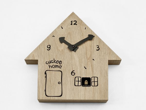 Cuckoo Home Wall Clock Birch Wood Έργα Ilya Titov 2