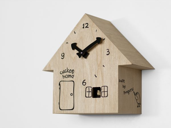 Cuckoo Home Wall Clock Birch Wood Έργα Ilya Titov 1