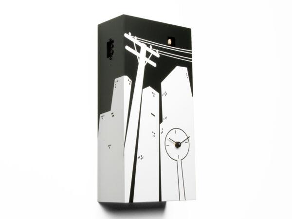 Reloj de pared Cucucity Blanco | Negro Progetti Riccardo Paolino & Matteo Fusi 1