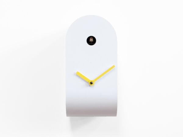 Orologio da parete Cucupola Bianco|Giallo Progetti Mattia Cimadoro 2