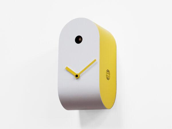 Orologio da parete Cucupola Bianco|Giallo Progetti Mattia Cimadoro 3