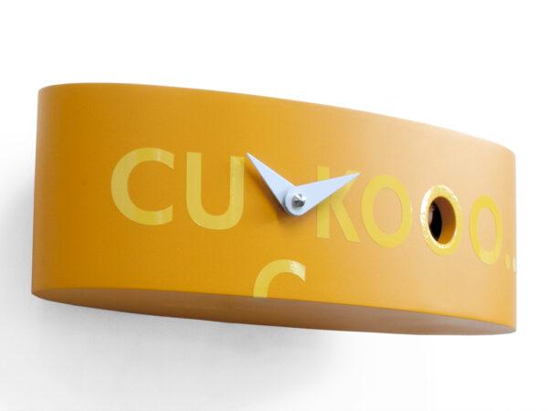 Orologio da parete Ellipse Arancione Progetti Barbero Design 3