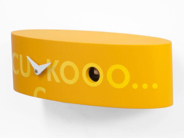 Orologio da parete Ellipse Arancione Progetti Barbero Design 1
