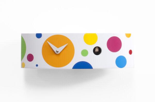 Reloj de pared Ellipse Pois Blanco | Multicolor Progetti Barbero Design 2