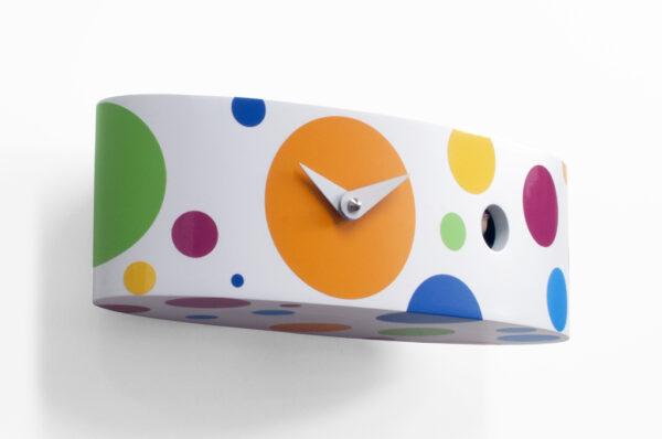 Reloj de pared Ellipse Pois Blanco | Multicolor Progetti Barbero Design 3