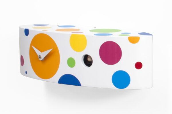 Reloj de pared Ellipse Pois Blanco | Multicolor Progetti Barbero Design 1
