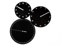 Reloj de pared H: m: s: Nero Progetti Dario Serio 1