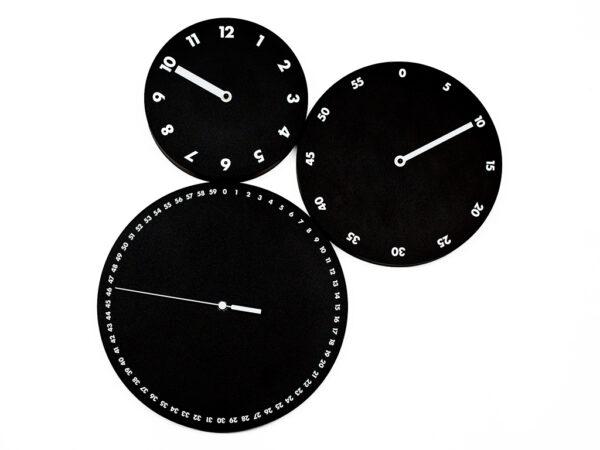 Orologio da parete H:m:s: Nero Progetti Dario Serio 1