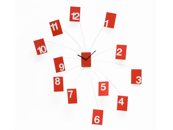Iltempovola Red Wall Clock Projects Alberto Sala 1