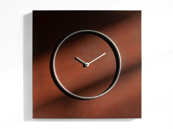 Relógio de parede Kreis aço Corten Progetti Progetti CR 1