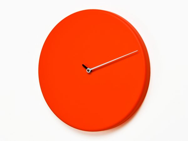 Wall clock Less Rosso Progetti Alberto Sala 1