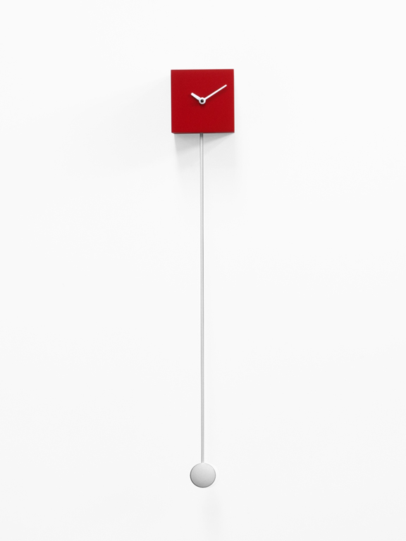 Long_time Reloj de pared rojo Progetti Alessia Gasperi 2