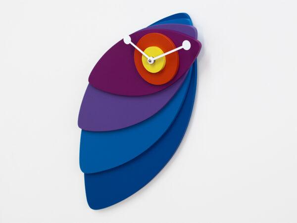 Horloge Murale Pétales Bleus | Progetti Multicolore Giulia Pretti 2