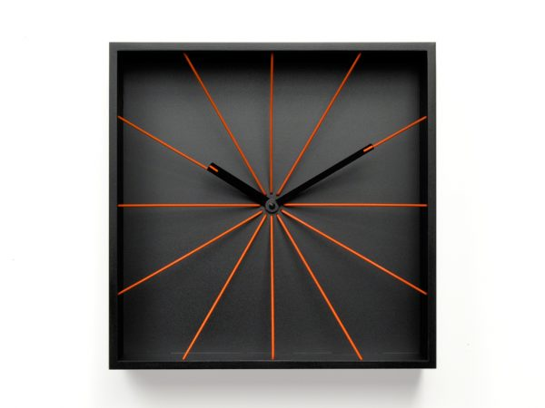 Black Perspective Wall Clock Projects Riccardo Paolino & Matteo Fusi 2