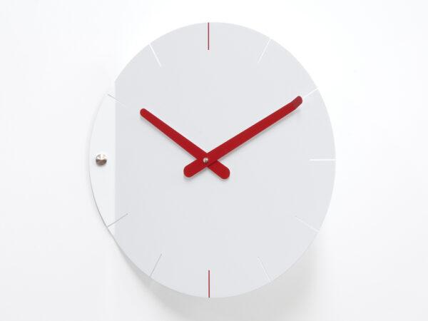 Reloj de pared Hoja Bianco Progetti Pino Montalti 1