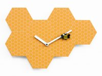 Time2bee Orange Wall Clock Έργα Alessia Gasperi 1