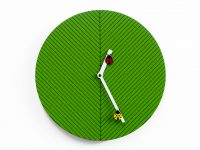 Time2bugs Green Wall Clock Progetti Alessia Gasperi 1